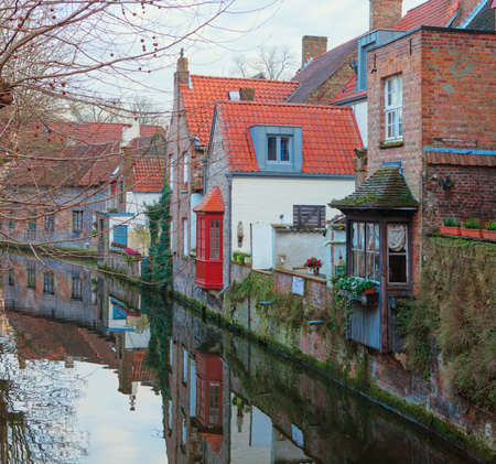 One of Bruges  canals, Belgium  photo