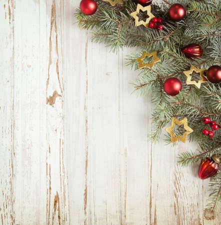 Karácsonyi dekoráció, öreg, grunge, fából készült hajón