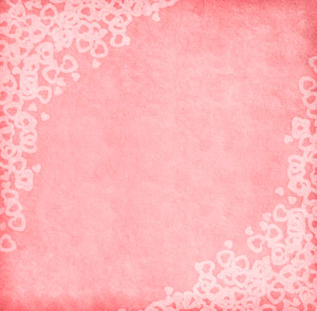 Pink paper with hearts  photo