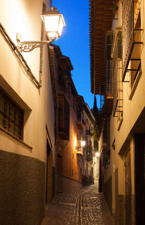 Empty alleyway in Granada  Spain  photo