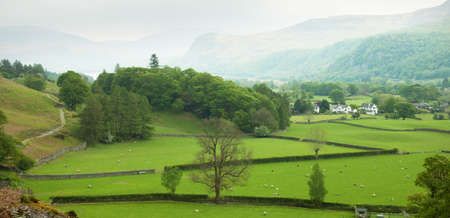 country house: English countryside in spring, Lake District, Cumbria, UK