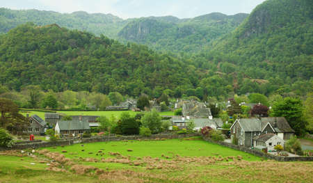 Village in Lake District, Cumbria  UK  photo