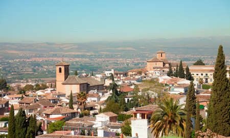 Granada     View  from the Albayzin,  Granada, Andalusia, Spain   photo