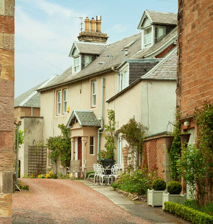 typically scottish: Old House in Melrose   Melrose is a small town and civil parish in the Scottish Borders, UK