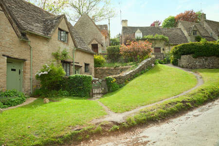 Traditional Cotswold cottages in England, UK