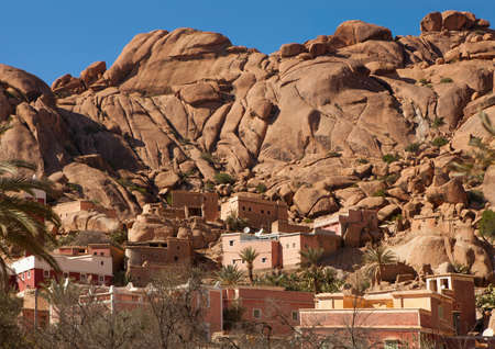 Village     near  Tafraout       It is located in the Anti-Atlas mountains in southern Morocco  photo