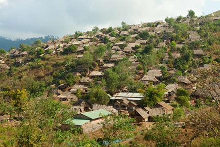 refugee: Burmese refugee camp near Mae Sot, Tak Province in northwestern Thailand   Stock Photo