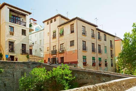 Old street  Carrera del Darro  in Granada,  Andalusia, Spain  photo