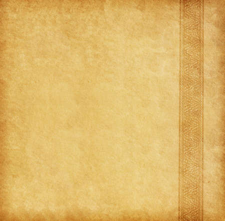 parchment texture: Beige background  Old paper with oriental ornament  Stock Photo