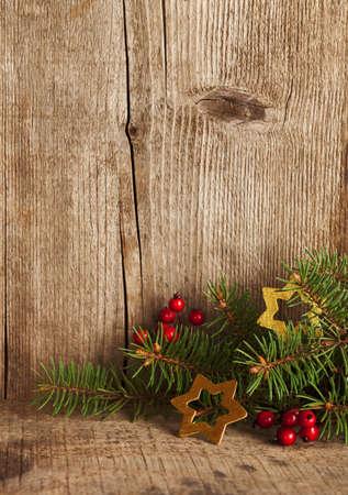 木の板のクリスマス装飾。 写真素材