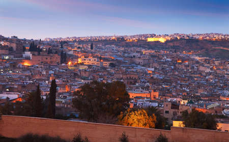 fez: View of the old medina of Fez, Morocco