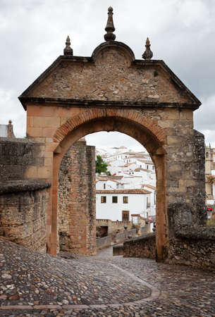 troglodyte: Puerta de Felipe V is a historical architectural element of the town of Ronda, Andalusia, Spain.