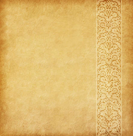 Beige background. Old paper with oriental ornament. Imagens - 39250972