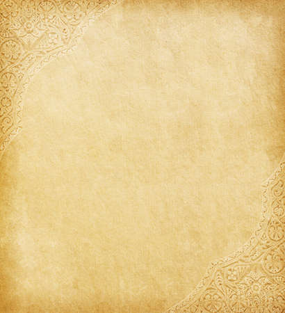 bordure de page: Vieux papier avec orientale ornement.