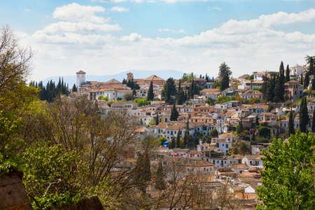 granada: Granada. View on the Albayzin, Granada, Andalusia, Spain.