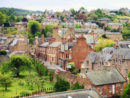 typically scottish: Melrose - small town in the Scottish Borders, Scotland, United Kingdom Stock Photo