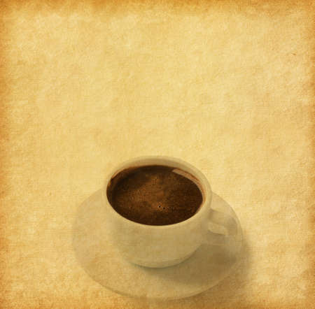 coffeetime: Old paper texture with  Cup of coffee.