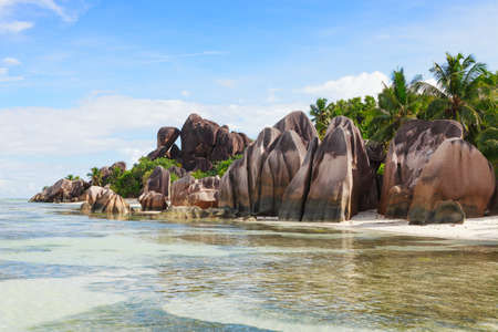 d'argent: The beach and surrounding rocks at Anse Source dArgent, La Digue,  Seychelles