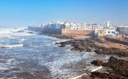 coastlines: Scenic view of the old medina of Essaouira, along the Atlantic, Morocco.