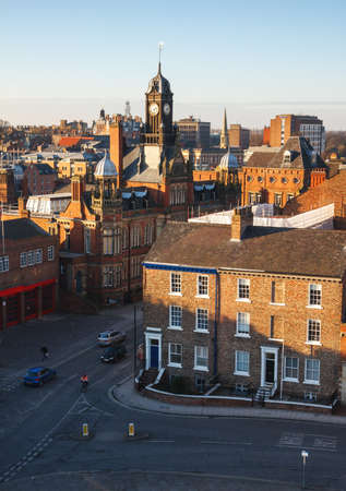 magistrates: York at sunset, UK. The view from Cliffords Tower.