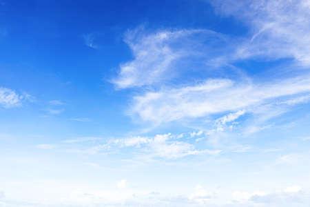 atmospheric phenomena: Beautiful sky with white clouds .