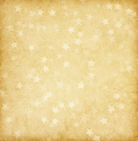 vintage paper decorated with stars Stock Photo