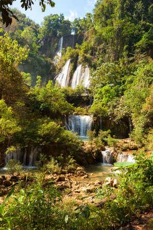Thi Lo Su waterfalls, Umphang district, Thailand.