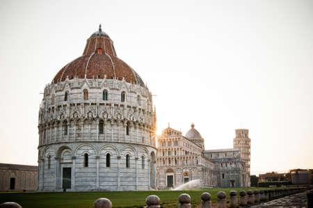 Pisa, Italy - July 2015 - dawn visit around the city Stock Photo