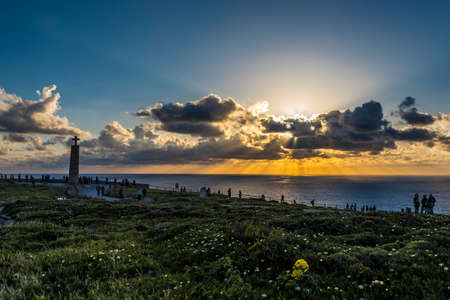 Sunset in Cabo da Roca, the last western part of Europe