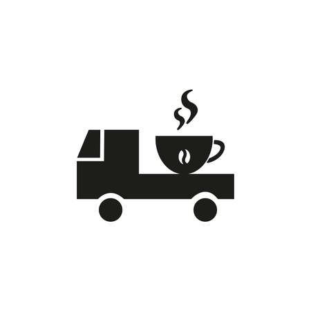 car drove coffee, coffee sale idea, vector illustration
