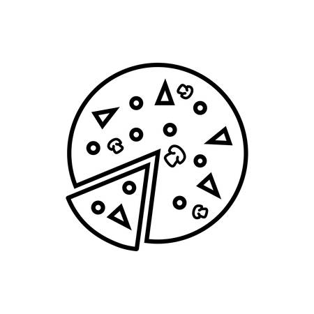 pizza icon vector illustration simple illustration on white background