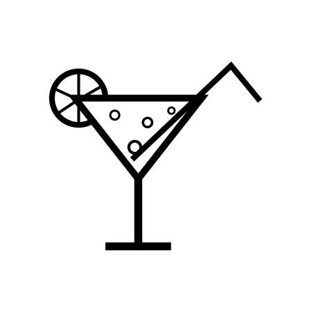 glass of drink icon vector illustration on a white background simple drawing holiday drink
