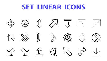 Set of line arrows,