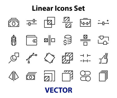 A simple set of image editing related vector line icons. Contains icons such as crop, copy, scale, rotate and more. Editable stroke. 48x48 Pixel Perfect. On white background. Vecteurs