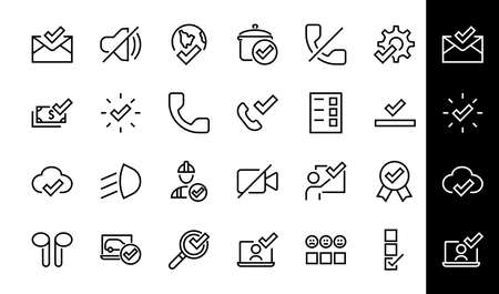 A simple set of claim related vector ICON lines. Contains icons such as file uploaded, received document, read message, receive call and more. Editable Bar. 48x48 Pixel Perfect. 版權商用圖片 - 150878563