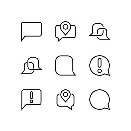 Simple set of message line vector line icons. contains icons such as conversation, SMS, notifications, group chat, and more. Editable stroke. 48x48 pixels perfect, white background