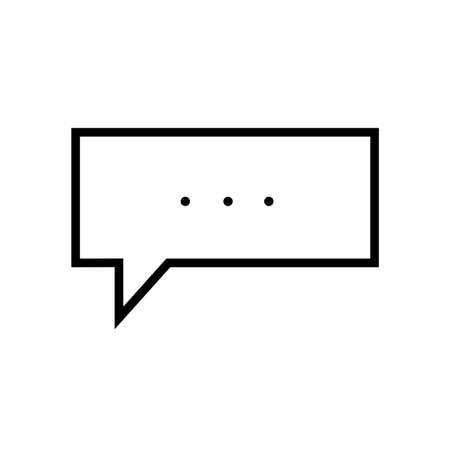 Message Icon, Chat Bubble Editable stroke. Communication linear icon. The symbol can denote Dialogue, speak. Vector illustration Isolated.