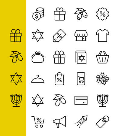 Black Friday Icon Set contains icons of Promotions, Discounts Shopping, Shopping Cart. Editable stroke. Vector Symbols, Linear.