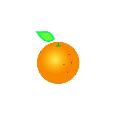 Orange Linear Icon Vector Graphics Colored Icon Editable Stroke Orange Fruit