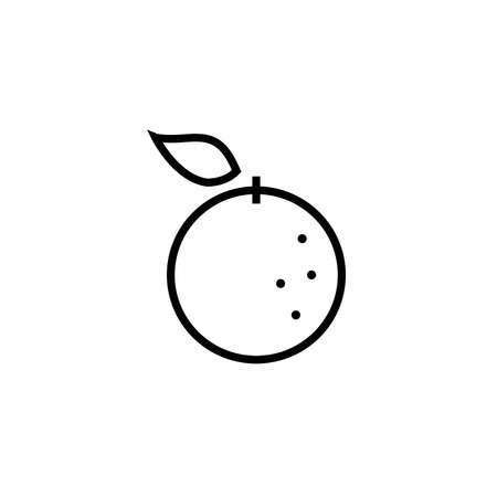 Orange Linear Icon Vector Graphics Simple Icon Editable Stroke Fruit Orange