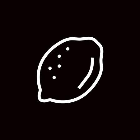 Lemon Linear Icon Vector Graphics Simple Icon Editable Stroke Lemon Fruit.