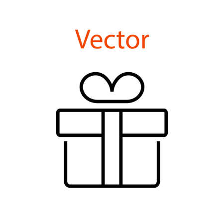Gift Box Line Icon Gifts for Christmas and New Year Holidays Editable Stroke Simple Icons