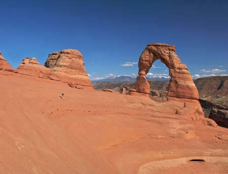 Delicate Arch in Arches National Park. photo
