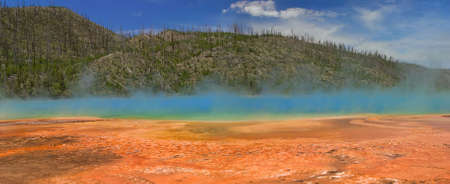 prismatic: Grand Prismatic Spring in Yellowstone National Park. Archivio Fotografico
