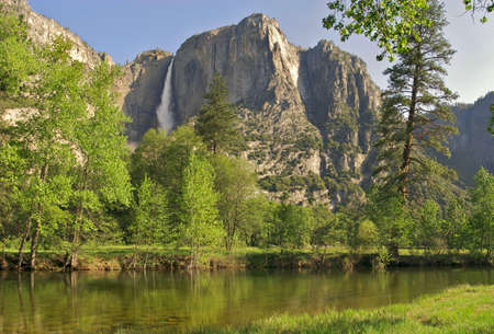 merced: Merced River with Yosemite Fall in background.