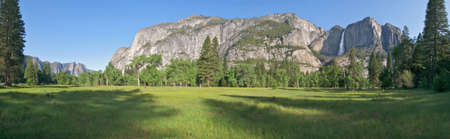 Yosemite Meadow with Yosemite Fall in background. photo