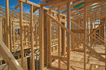 realty residence: House Construction Stock Photo