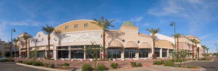 Outdoor shopping mall.