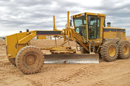 construction machinery: Road Grader Stock Photo