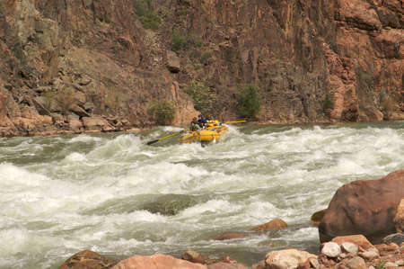 Rafting on Colorado River. Stock Photo